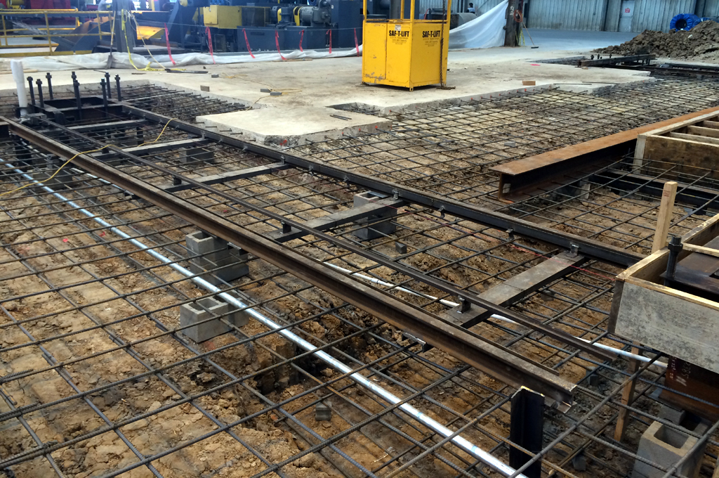 Foundation for a Slitting Line